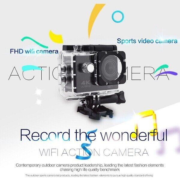 PRO CAM CAMERA 4K WIFI ULTRA HD 16MP VIDEOCAMERA TELECOMANDO CUSTODIA SUBACQUEA