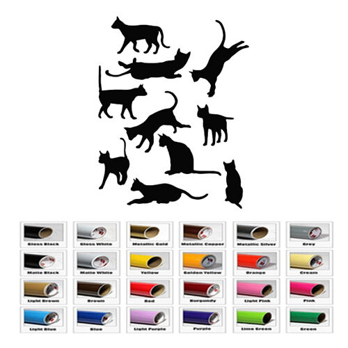 Cat Animal Decal Vinyl for Car Window helmet bike Wall Laptop Tablet Art Sticker