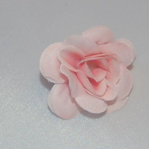4 Fleurs de têtes Textile Fleur Satin-organza choix de couleur Flower Head