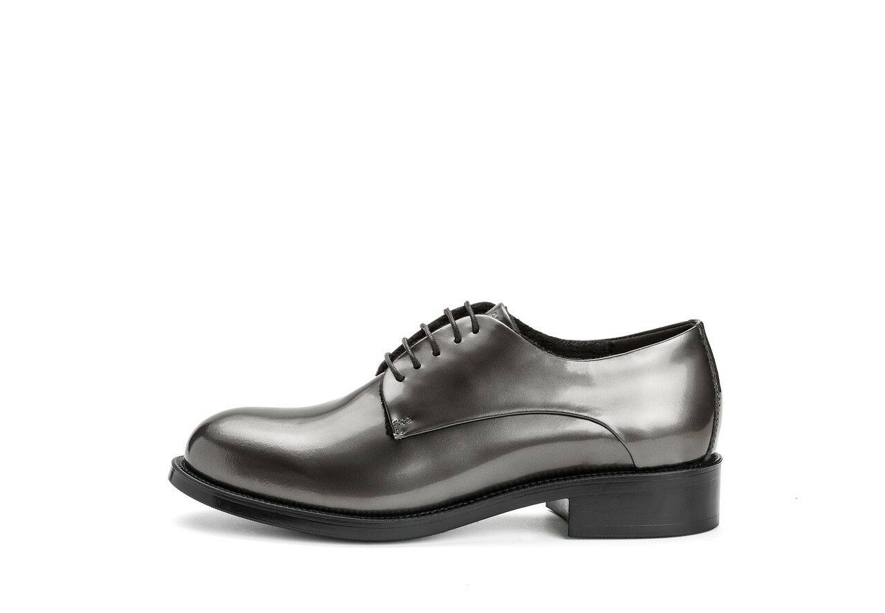 FRAU 98X1 scarpa donna gomma allacciata pelle reflex acciaio gomma donna made in Italy c47a3b