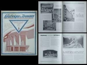 2019 DernièRe Conception Technique Des Travaux N°8 1931 Theatre Croix Rousse Lyon, Metro 8 Paris, Luchon
