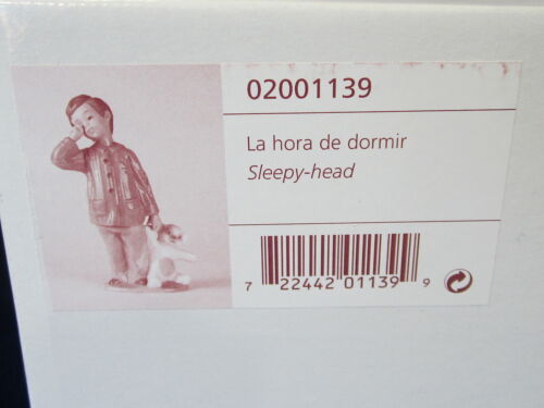 NAO BY LLADRO SLEEPY HEAD BRAND NEW IN BOX #1139 BOY GOING TO BED TEDDY BEAR F//S
