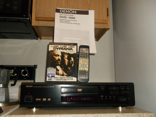 Refurbished Denon DVD-1000 DVD Player W/ OEM Remote & DVD Movie & Service Manual