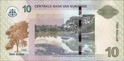 Surinam / Suriname 10 Dollars 2010 Pick 163  (1)