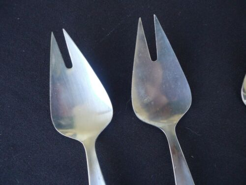 6 vintage retro stainless steel splayds buffet forks