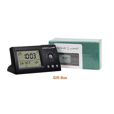 Alfajr CS03 Islamic AZAN Alarm Table Clock Muslim Athan Adhan Qibla Prayer NEW