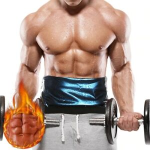 Men Waist Trainer Sauna Sweat Band Slimming Belt Heat Trapping Workout Shapewear