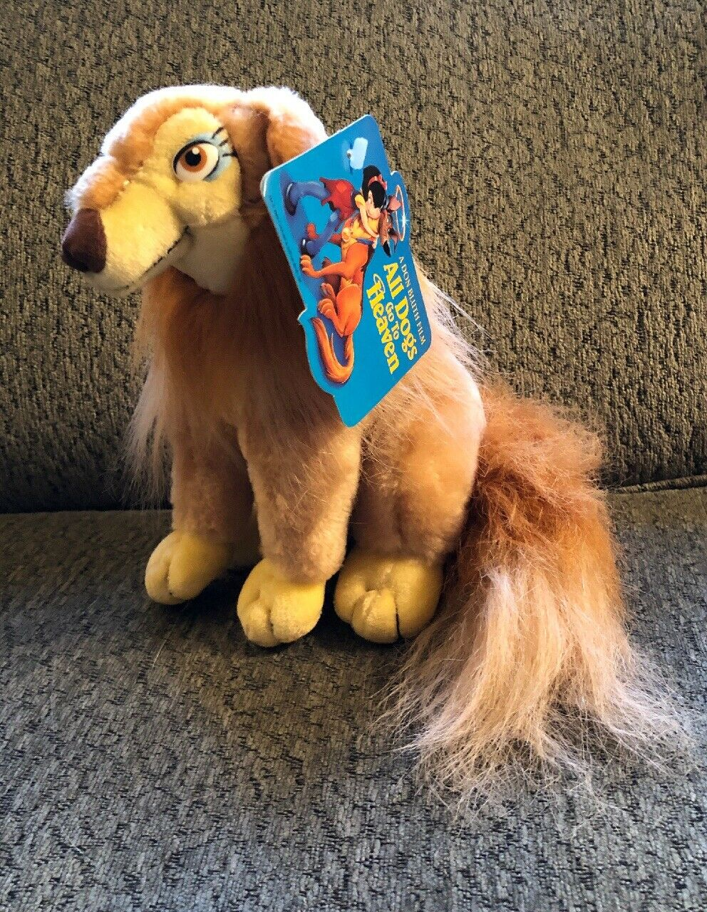 8  Flo Girl Collie Dog Plush With Tags From All Dogs Go To Heaven Don Blauth 1989