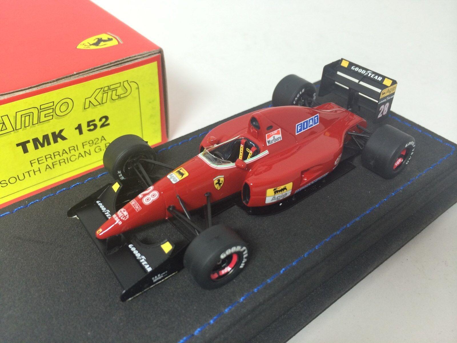 Tameo F1 Ferrari F92A sudafricano Grand Prix 2018 28 I. CAPELLI TMK152