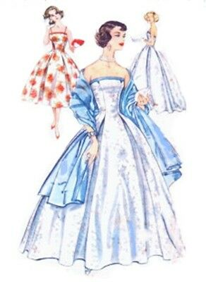 131 BALLGOWN WITH WITH INVERTED PLEATS STOLE  PATTERN  for Fashion Dolls