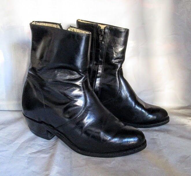 Made side in usa uomini  di pelle nera, lato side Made con stivaletti ef7586