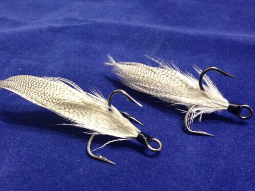 "Xmarks Custom Feathered Trebles Mustad KVD Triple Grip Size 1 /""Fish Tail/"""