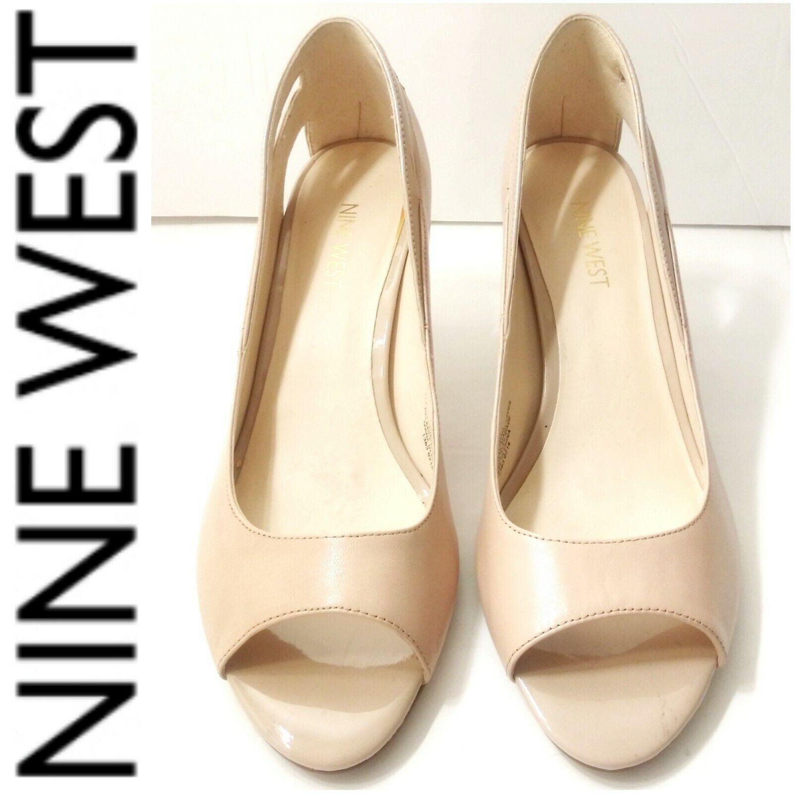 peep toe flats nine west