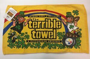Pittsburgh-Steelers-Terrible-Towel-Leprechaun-St-Patricks-Day-Rare-NWT