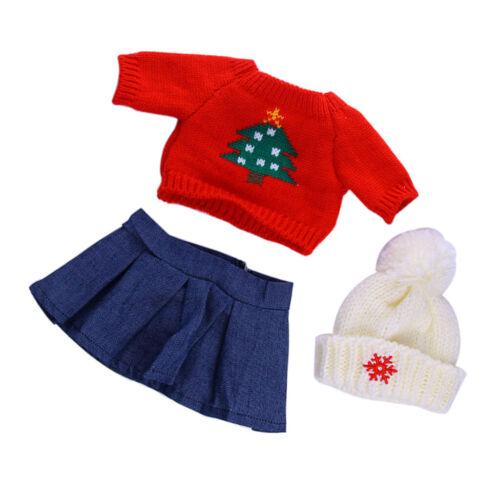 Christmas Tree Sweater T-shirt Sombrero de vestir para 18 /'/' AG American Doll