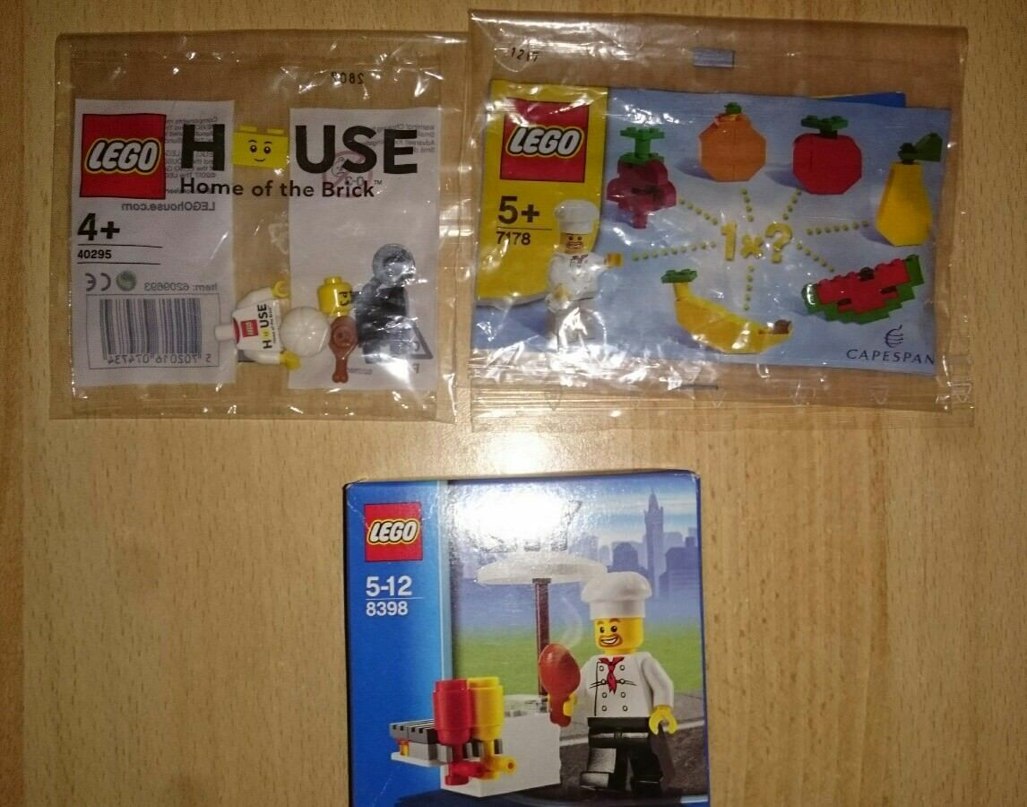 Lego Lego Lego Chef KOCH Bundle - 40295  7178  8398 polybag BOX 00a751
