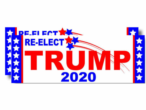 x2 Two Pack Lot Re-Elect TRUMP 2020 Sticker Decal MAGA  #4