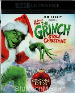How The Grinch Stole Christmas Blu Ray.Details About Dr Seuss How The Grinch Stole Christmas Blu Ray 4k Jim Carrey W Slipcover New