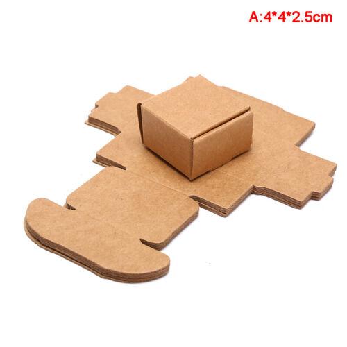 10Pcs//Set Papier Kraft Cube Box mariage faveur Candy Gift Party Supply craftyjus