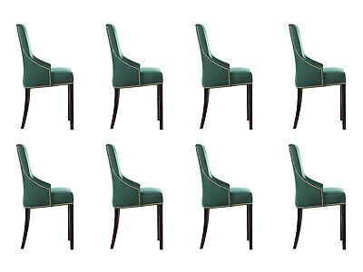 8x Design Imbottitura Sedile Sedia Sedie Set Guardate Poltrona Lounge Club Set-mostra Il Titolo Originale Abbiamo Vinto L'Elogio Dai Clienti