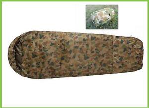 CARIBEE-DEPLOY-1300-0C-LIGHTWEIGHT-CAMO-AUSCAM-DPCU-ARMY-CAMPING-SLEEPING-BAG