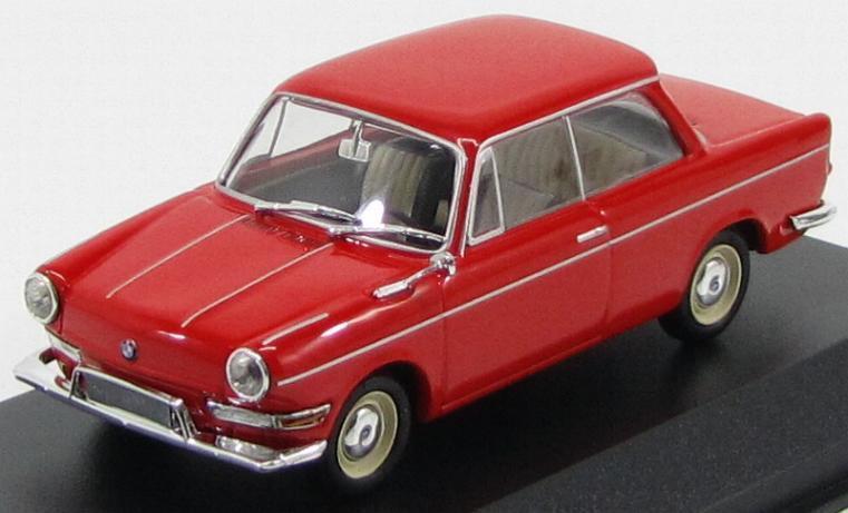 Modelo de escala 1 43 BMW 700 LS - 1960-rojo (bordeaux)