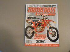 APRIL  2014 MOTOCROSS ACTION MAGAZINE,KTM FACTORY III,HONDA CR250 2 STROKE,SUPER