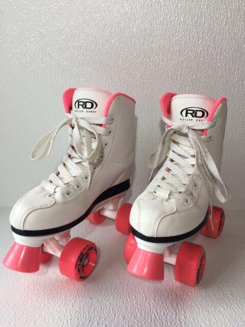 Roller Derby U324G-02 Girls Roller Star 350 Quad Skate Size 2 White//Pink