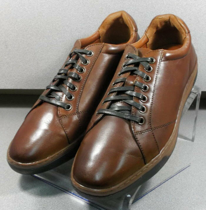 252800 MS50 Men's shoes Size 8 M Brown Leather Lace Up Johnston & Murphy