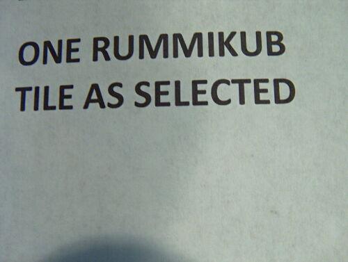 1997 Pressman Individual Rummikub Tiles Your Choice replacement upick your tiles