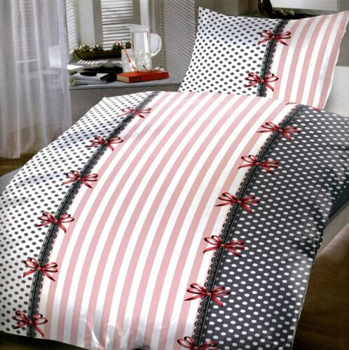 Bettwäsche Garnitur XL Schlafzimmer 155x220 Kissenbezug 80x80 NEU Süß Girl Rosa