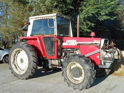 Massey Ferguson 590 Turbo Tractor. MF 590 4WD Tractor With Winch. Road Reg'd