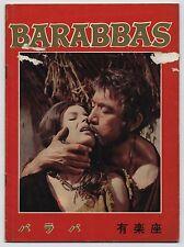 Barabbas (Barabba) JAPAN PROGRAM Richard Fleischer, Anthony Quinn, Jack Palance
