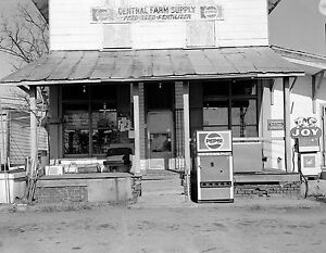 1950's Grocery feed store, gas station, Pepsi Soda Machine, country life, 8x10""