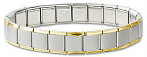 Italian-Charm-Bracelets-Stainless-Steel-Gold-Plated-Trim-13mm-Free-Shipping-Gift