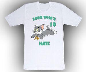 Personalized custom tom and jerry birthday shirt gift in 4 for Custom t shirts personalized gifts