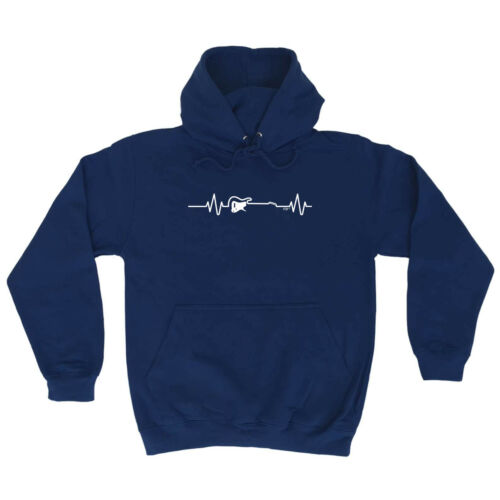 Music Band Hoodie Hoody Funny Novelty hooded Top Electric Guitar Pulse
