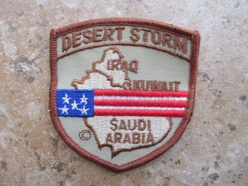 Army Desert Storm Iraq Kuwait Saudi Arabia Desert Tan Shield Patch Unused U.S
