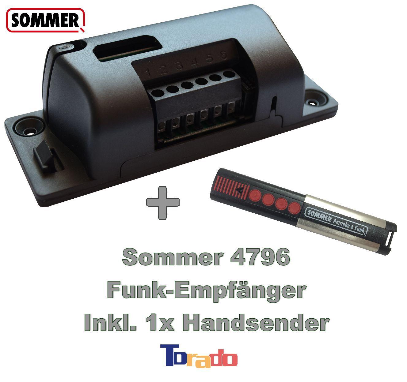 Sommer Funkempfänger + Handsender Set 868,8 MHz Garagentorantrieb Funk Funk Funk Empfänger ec14b1