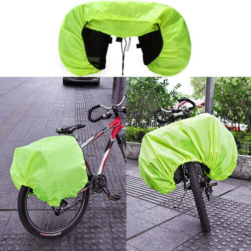 Waterproof Silk Rain Cover Coat For Bicycle Rear Seat Carrier Bag Rack Pannier !