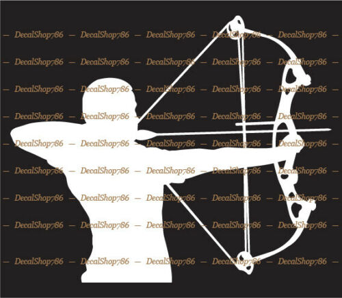 Bow Hunter Archery//Hunting//Outdoor Sports Vinyl Die-Cut Peel N/' Stick Decals