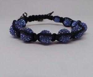 Lucet-Mundi-Ladies-Light-Blue-Crystal-and-Hematite-Shamballa-Bracelet-PB055