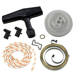 Details about Recoil Rewind Starter Pulley Spring Rope Grip For Many Stihl  Chainsaw Models New