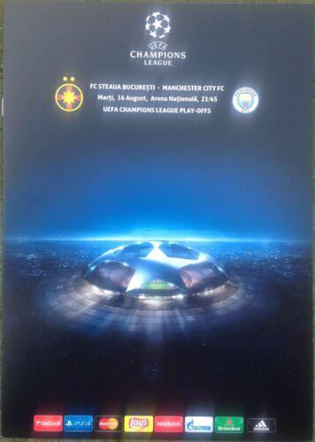 2016 STEAUA BUCHAREST v MANCHESTER CITY A4 CHAMPIONS LEAGUE PLAY-OFFS PROGRAMME