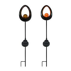 Vo 23 cm Tierlampe Vogellampe Solar Dekolampe Metall Garten Gartenlampe Leuchte