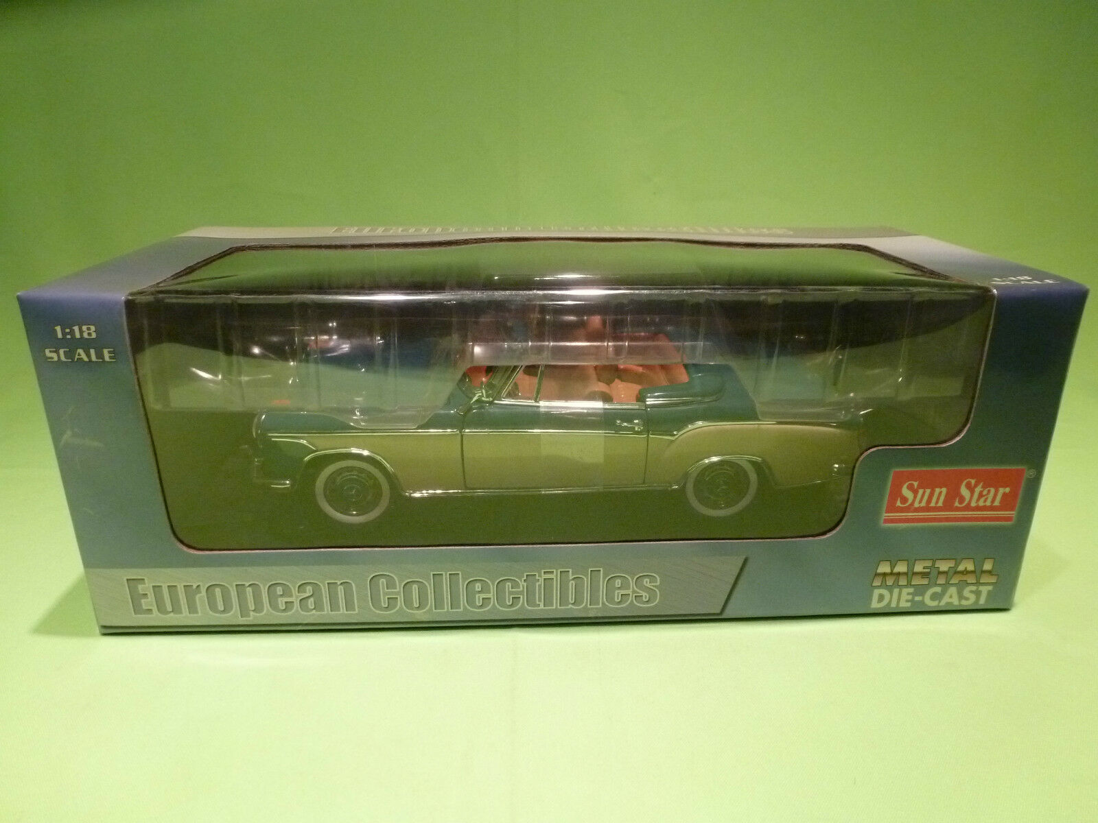 SUN STAR 1:18 MERCEDES BENZ 220 SE 1958 - TWO TONE - RARE GOOD CONDITION IN BOX