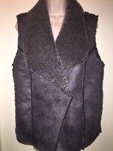 Vest Størrelse 365 Grey M elephant Design Faux Fall shearling Women's med Ny Tags 888081951219 TqRwXwI