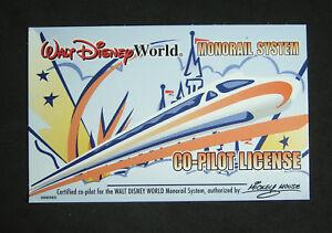 Walt-Disney-World-Monorail-System-Co-Pilot-License-Retired-Card-Co-Pilot