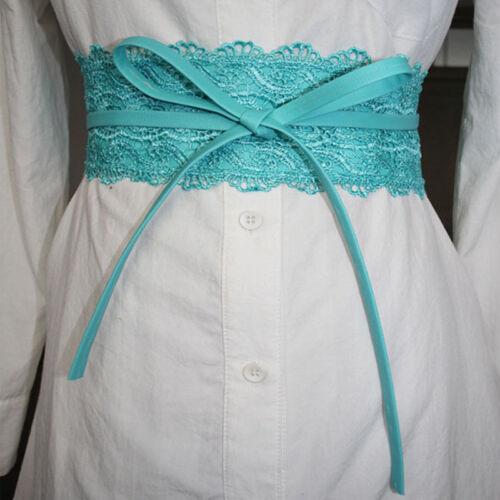 Wide Corset Lace Women Wedding Dress Belt Female Self Tie Waistband 8C