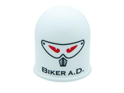 Capucha del aplicador oral enganche remolque motocross casco quad Devil Eyes Eye malvado Biker blanco